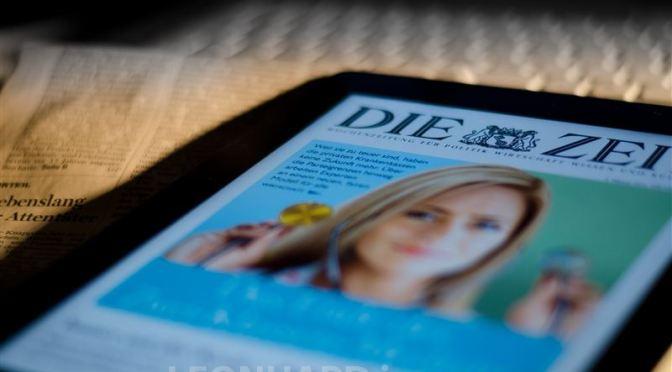 Die Print-Zeitung wird vergehen ….